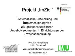 """Projekt """"ImZiel"""""""
