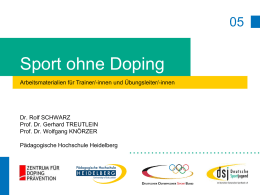 Sport ohne Doping - Deutsche Sportjugend