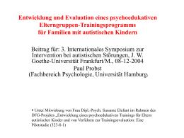 Autismus Elterntraining, Frankfurt , 12, 2004
