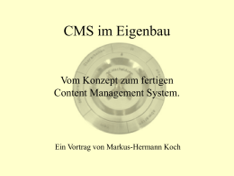 CMS im Eigenbau - KARRIERE handbuch