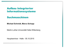 Aufbau Integrierter Informationssysteme Datenintegration