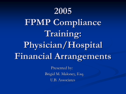 2004 FPMP Compliance Plan Training