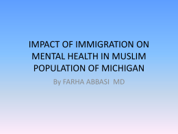 impact of immigration on mental health in muslim
