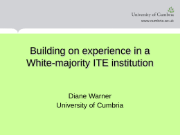 Building on & learning from experience in a White ITE