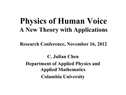 Physics of Human Voice Production