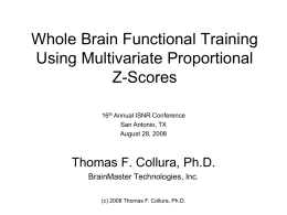 Foundations of QEEG and Z Scores
