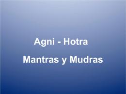 Mantras y mudras Agni