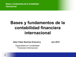 Estandares Internacionales NIC-NIIF (IAS