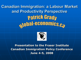 Labour Market and Productivity Implications of Immigration