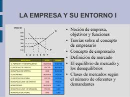 LA EMPRESA Y SU MARCO EXTERNO