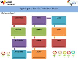 Nuestra Agenda por la Paz y la Convivencia Escolar