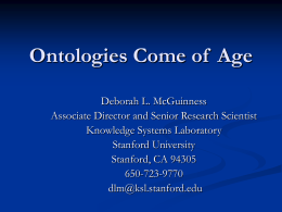 Ontologies Come of Age
