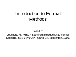 A Specifier's Introduction to Formal Methods