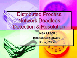 Distributed Process Network Deadlock Detection & …