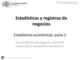 Economic statistics, part 2