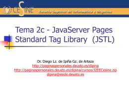 JavaServer Pages Standard Tag Library (JSTL)