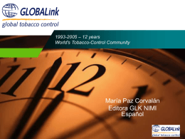1993-2005 Learned lessons from networking for tobacco …