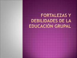 FORTALEZAS Y DEBILIDADES DE LOS TALLERES DE …