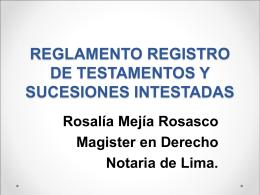 REGLAMENTO REGISTRO DE TESTAMENTOS Y …