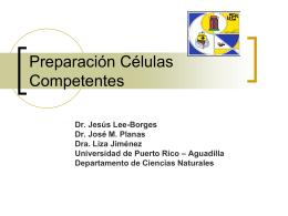 Preparacion Celulas Competentes