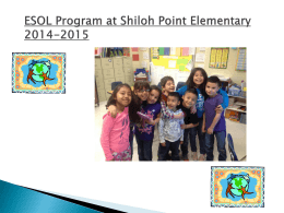 ESOL Program at Midway Elementary
