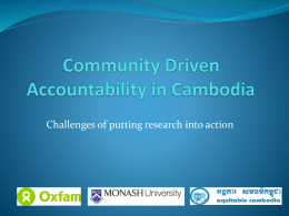 Community Driven Accountability in Cambodia