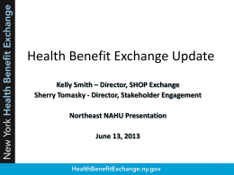 New York Health Benefit Exchange Alice Yaker Sara