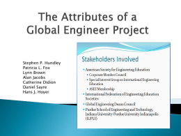 Attributes of a Global Engineering Project