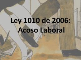 Ley 1010 de 2006: Acoso Laboral