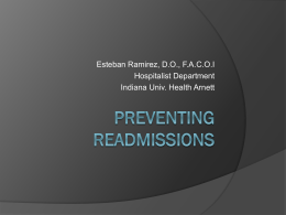 Preventing Readmissions - Lafayette Medical Education