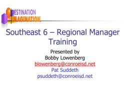 Destination Imagination Southeast 6 – Regional Manager