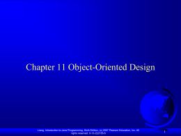 Chapter 9: Object-Oriented Software Development