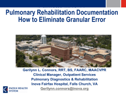 Pulmonary Rehabilitation Disease Management Program