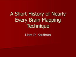 A Short History of Brain Mapping