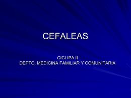 CEFALEAS - Dpto. de Medicina Familiar y Comunitaria