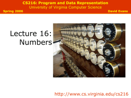 Numbers - University of Virginia