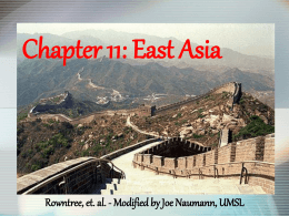 Chapter 11: East Asia - University of Missouri