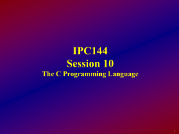 IPC144 - Session10