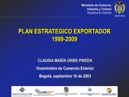 Plan Sectorial de Turismo 2002-2006 Turismo: Factor para