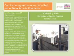 Cartilla de organizaciones de la Red por el Derecho a la