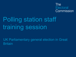 Briefing for polling station staff