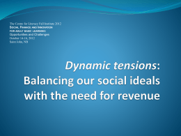 Dynamic tensions: Balancing our social ideals with the