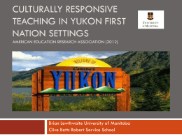 Culturally Responsive Teaching in Yukon First Nations …