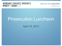 Prosecution Luncheon