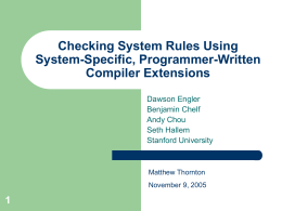 Checking System Rules Using System