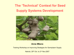 The 'Technical' Context for supply systems development