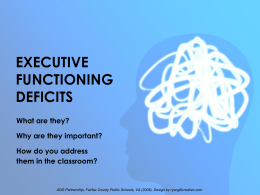 EXECUTIVE FUNCTIONING DEFICITS