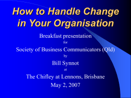How to Handle Change in Your Organisation