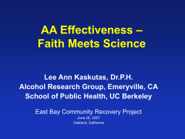 Assessing Alcoholics Anonymous Participation: What …