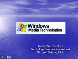 Windows Media - RedIRIS